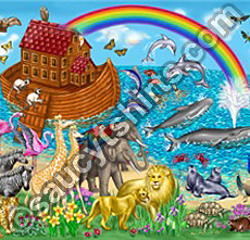 Noah's ark illustration by Chris Petsos