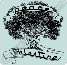 peace palestine t shirt with olive tree