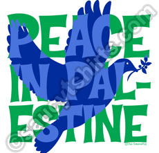 peace in palestine t-shirt with dove