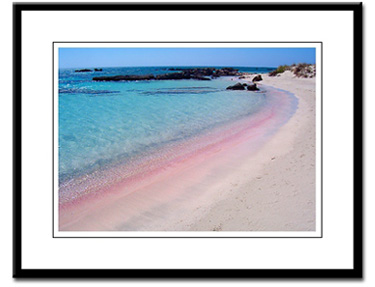 crete elafonisi beach framed print photogtraphy