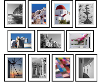 Greece framed prints