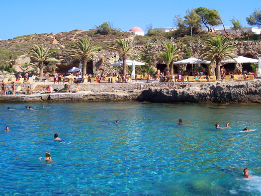 kallithea spa swiiming cove in rhodes
