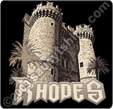 knights castle rhodes t shirt
