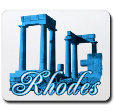 rhodes greece mousepad