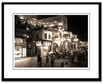 Rhodes Old Town framed printframed print