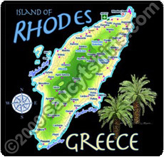 map of rhodes t shirt