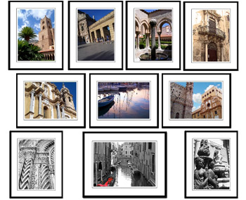 Italy framed photography prints