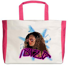 ibiza beach tote bag