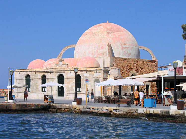 chania harbor domed building