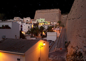 The medieval walls and town of Ibiza